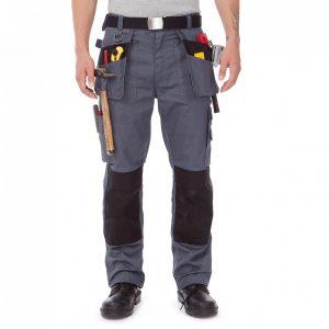 Pantaloni lucru buzunare genunchi unisex serigrafie broderie