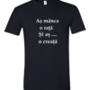 Tricou bumbac dama unisex alb negru imprimat serigrafie Creata | Toroadv.ro
