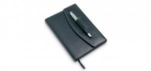 Agenda piele pix notebook debosare tampografie