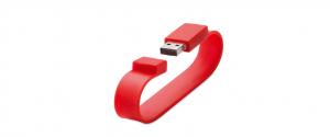 USB bratara silicon tampografie