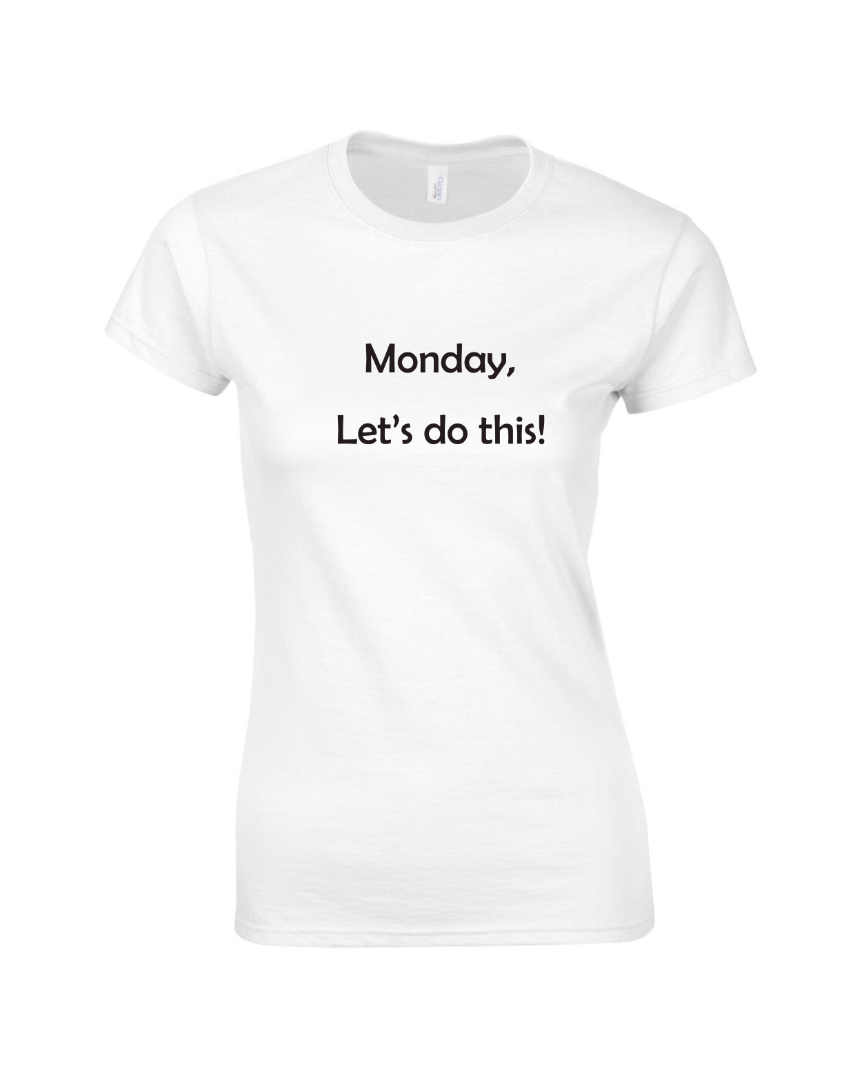 Tricou bumbac dama unisex alb negru imprimat serigrafie Monday