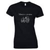 Tricou bumbac dama unisex alb negru imprimat serigrafie Tractor