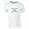 Tricou bumbac dama unisex alb negru imprimat serigrafie Waking  | Toroadv.ro