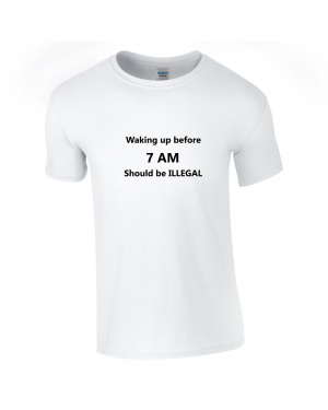 Tricou bumbac dama unisex alb negru imprimat serigrafie Waking