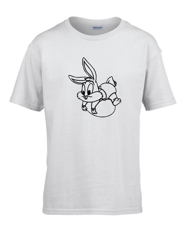 Tricou bumbac copii unisex alb  imprimat serigrafie Baby Bugs Bunny   Toroadv.ro