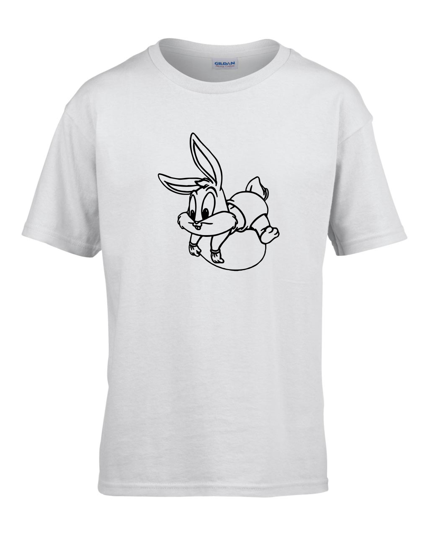 Tricou bumbac copii unisex alb imprimat serigrafie Baby Bugs Bunny