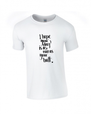 Tricou bumbac dama unisex alb negru imprimat serigrafie Day