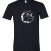 Tricou bumbac dama unisex alb negru imprimat serigrafie Angry dog | Toroadv.ro