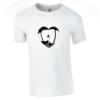 Tricou bumbac dama unisex alb negru imprimat DTG Sexy heart | Toroadv.ro