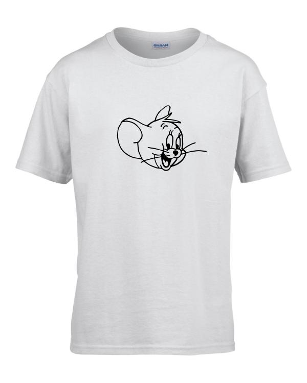 Tricou bumbac copii unisex alb  imprimat serigrafie baby Jerry | Toroadv.ro