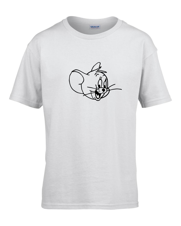 Tricou bumbac copii unisex alb imprimat serigrafie baby Jerry