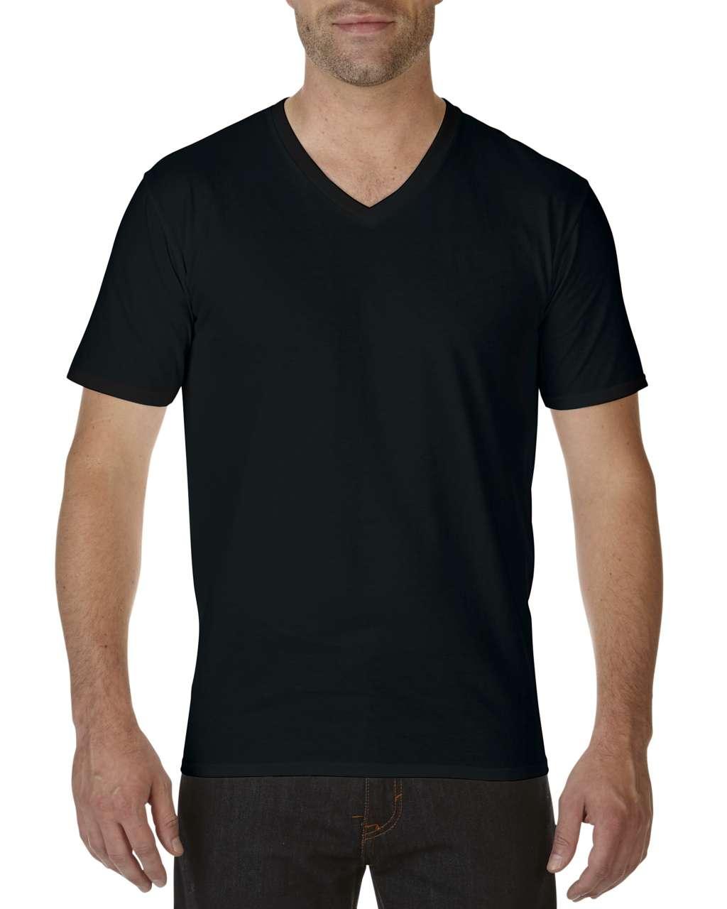 Tricou barbatesc cu guler in V Gildan Premium Cotton bumbac 185 g/mp serigrafie termotransfer broderie DTG | Toroadv.ro