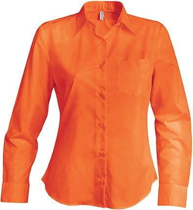 Camasa dama Kariban Jessica 65%poliester 35% bumbac 100g/mp broderie serigrafie termotransfer | Toroadv.ro