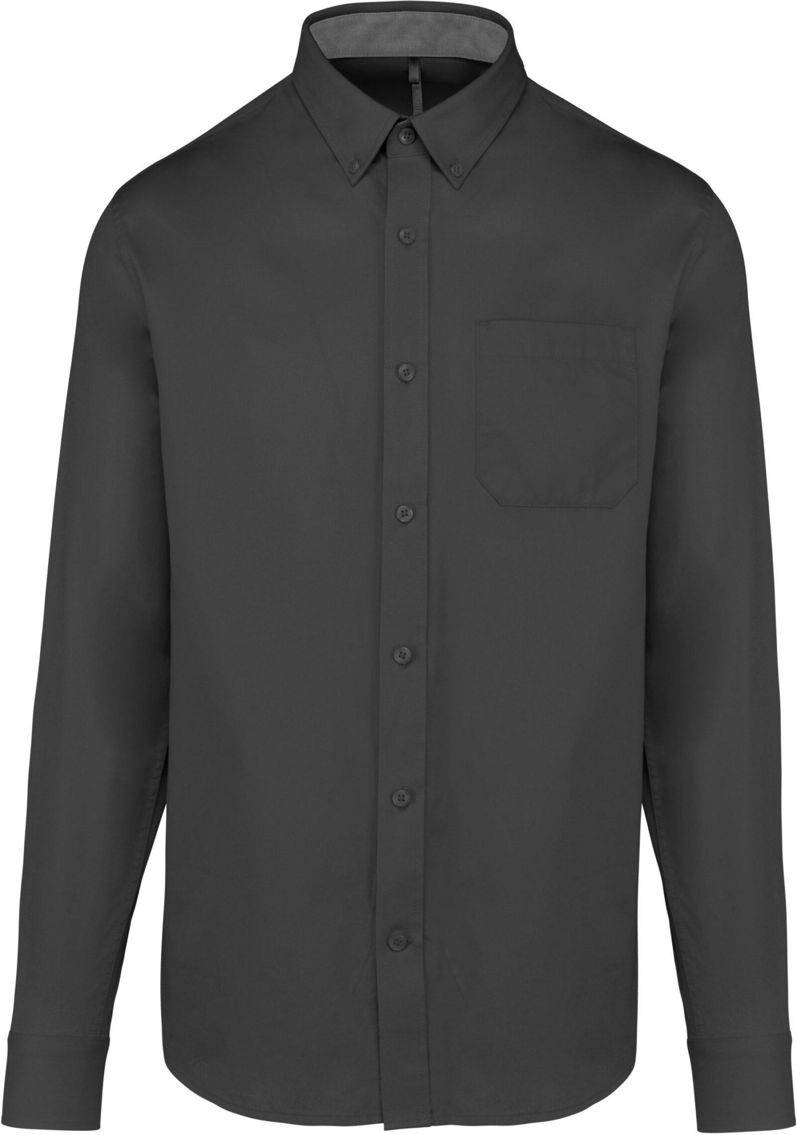 Camasa Nevada KA586 dark grey Camasi dama barbatesti corporate bar maneca scurta maneca lunga broderie serigrafie termotransfer| Toroadv.ro
