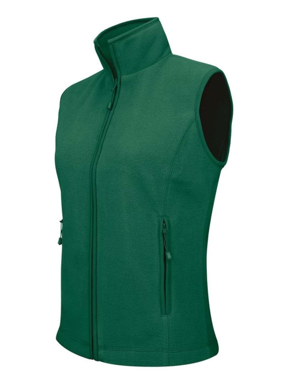 Vesta KA906 verde inchis forest Veste jachete dama barbatesti polar fleece softshell fas gluga ploaie vant broderie serigrafie termotransfer | Toroadv.ro