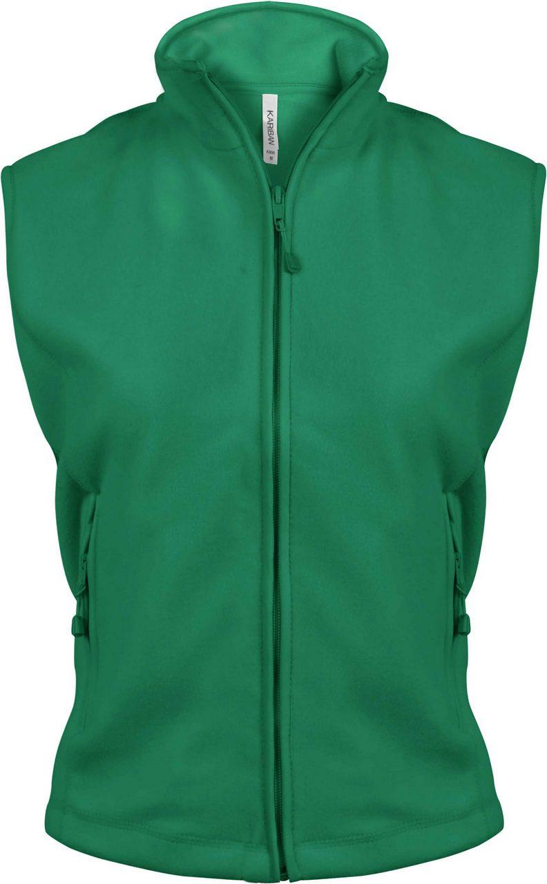 Vesta KA906 verde kelly Veste jachete dama barbatesti polar fleece softshell fas gluga ploaie vant broderie serigrafie termotransfer | Toroadv.ro