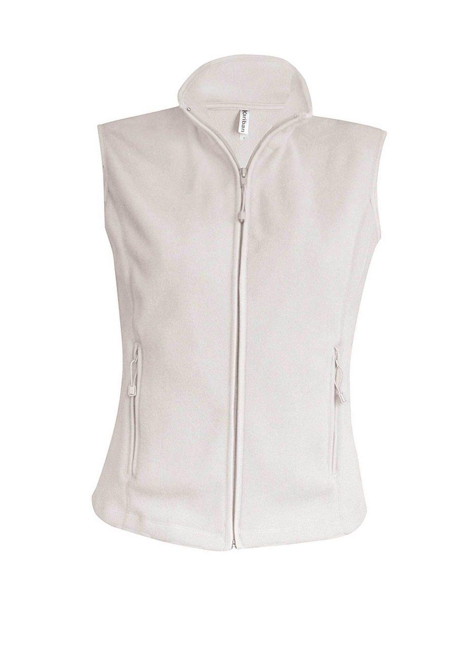 Vesta KA906 crem natural Veste jachete dama barbatesti polar fleece softshell fas gluga ploaie vant broderie serigrafie termotransfer | Toroadv.ro