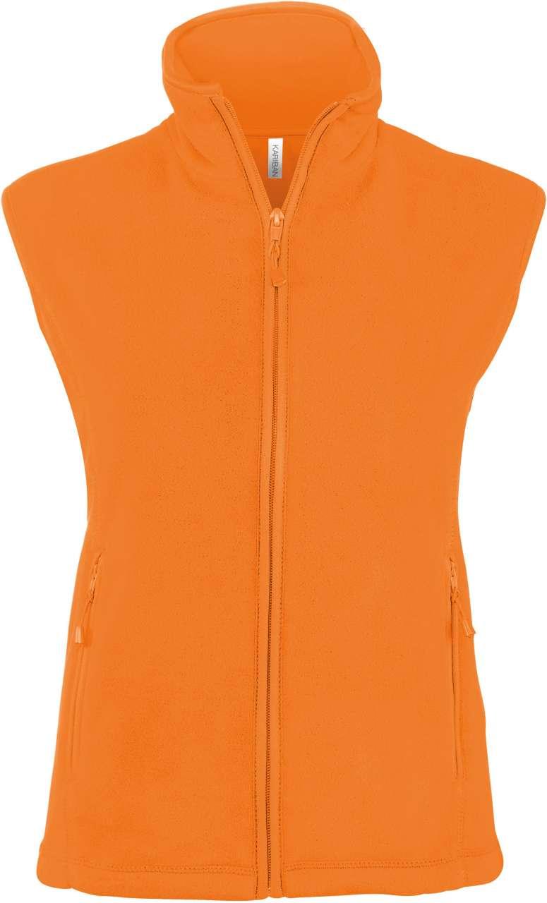 Vesta KA906 portocalie orange Veste jachete dama barbatesti polar fleece softshell fas gluga ploaie vant broderie serigrafie termotransfer | Toroadv.ro