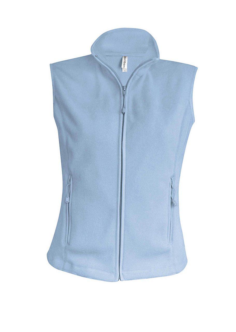 Vesta KA906 sky blue Veste jachete dama barbatesti polar fleece softshell fas gluga ploaie vant broderie serigrafie termotransfer | Toroadv.ro