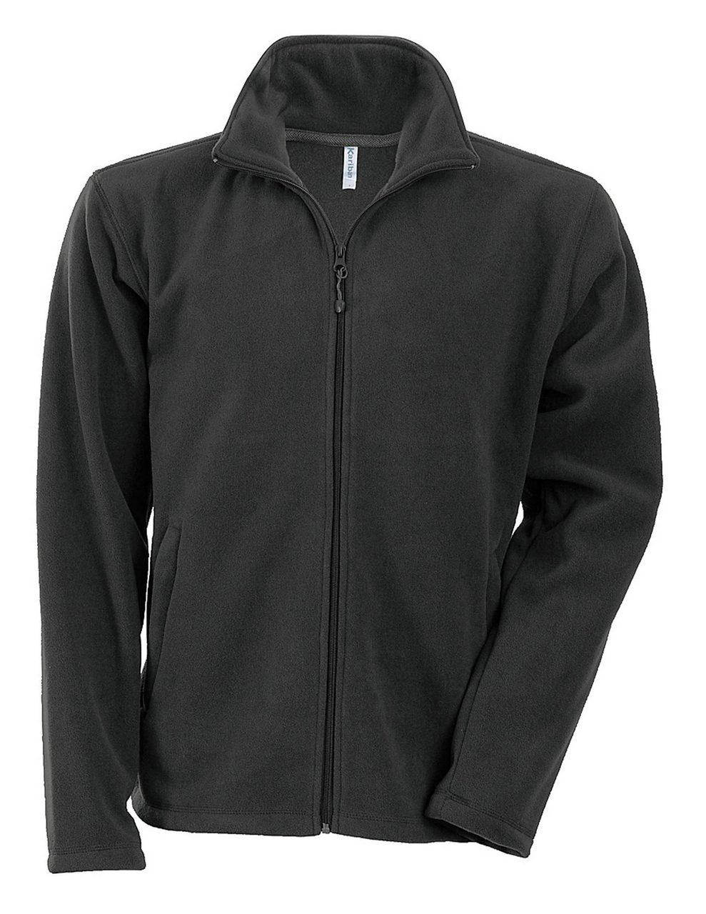 Fleece KA911 gri inchis veste jachete dama barbatesti polar fleece softshell fas gluga ploaie vant broderie serigrafie termotransfer