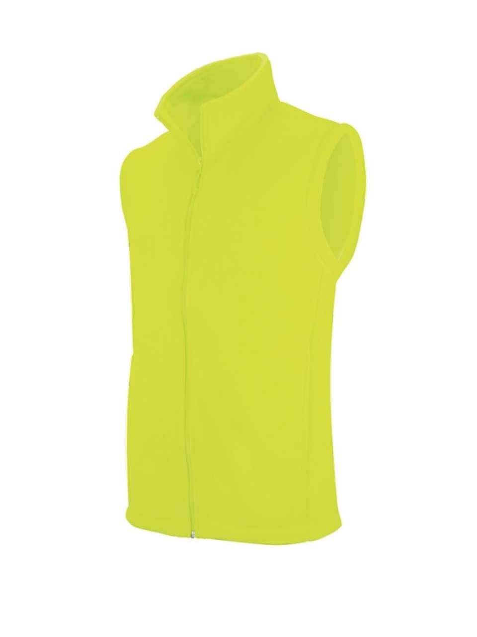 Vesta fleece KA913 fluorescent yellow veste jachete dama barbatesti polar fleece softshell fas gluga ploaie vant broderie serigrafie termotransfer | Toroadv.ro