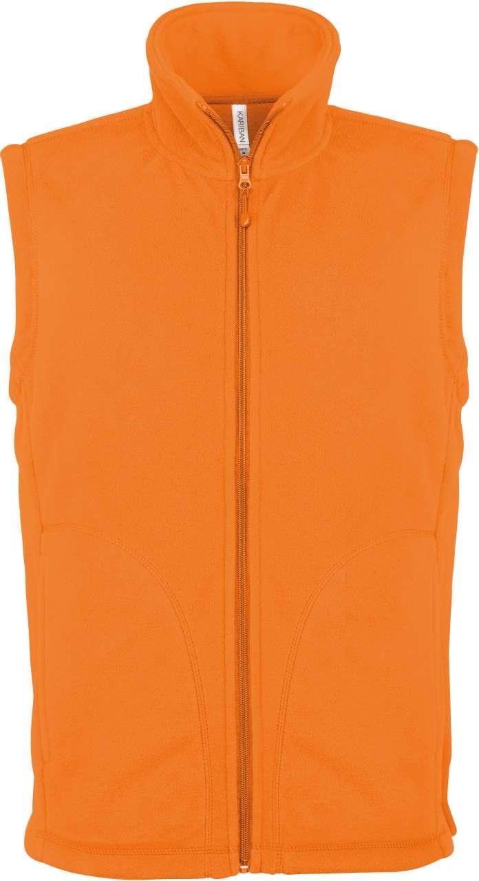 Vesta fleece KA913 portocalie veste jachete dama barbatesti polar fleece softshell fas gluga ploaie vant broderie serigrafie termotransfer | Toroadv.ro