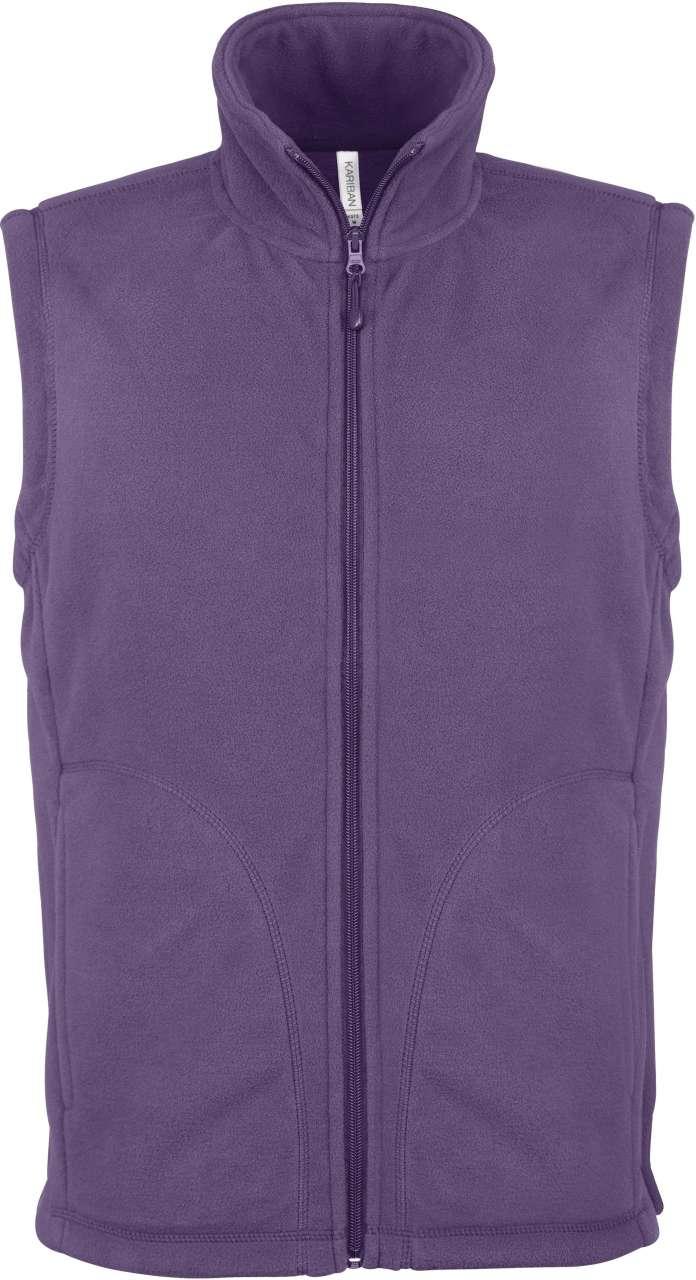 Vesta fleece KA913 mov veste jachete dama barbatesti polar fleece softshell fas gluga ploaie vant broderie serigrafie termotransfer | Toroadv.ro