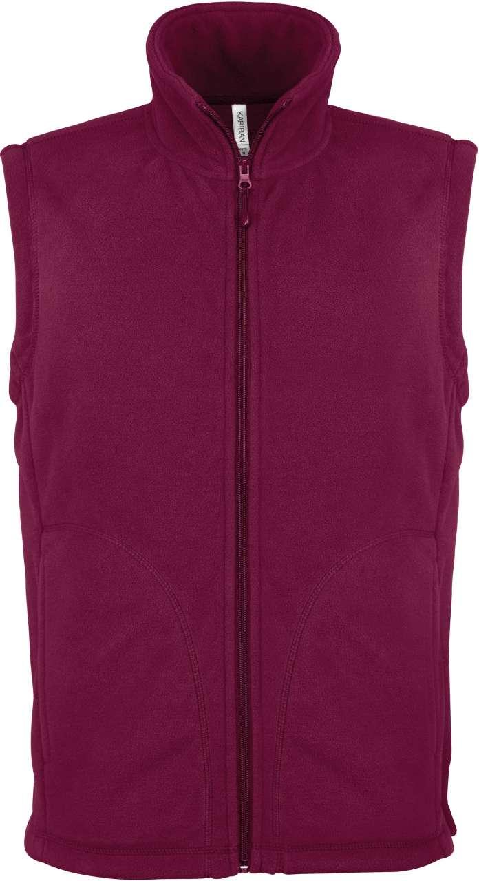Vesta fleece KA913 wine visiniu burgundy veste jachete dama barbatesti polar fleece softshell fas gluga ploaie vant broderie serigrafie termotransfer | Toroadv.ro