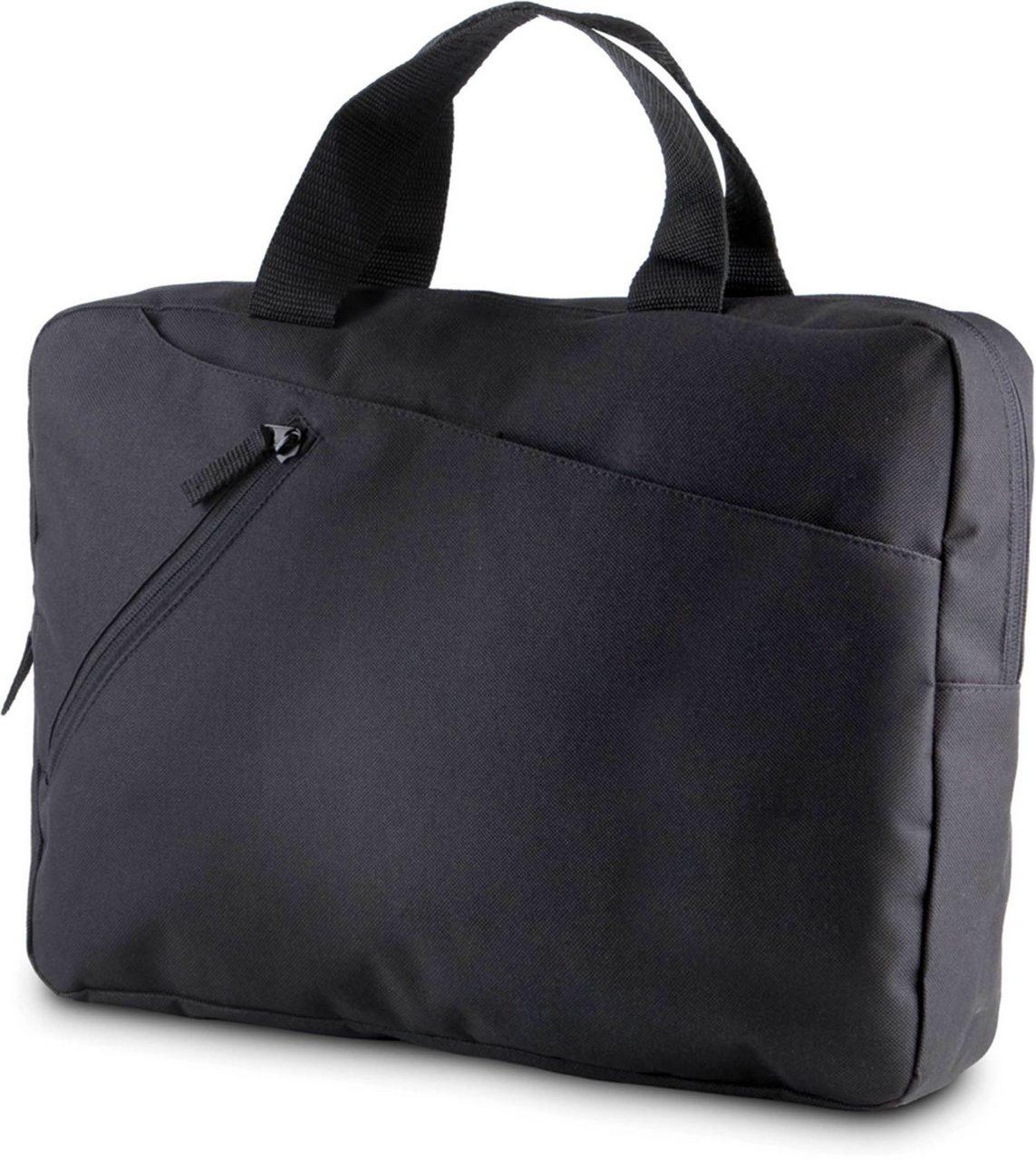 Geanta KI0402 neagra Genti rucsacuri personalizate conferinta laptop sport compartiment serigrafie broderie termotransfer