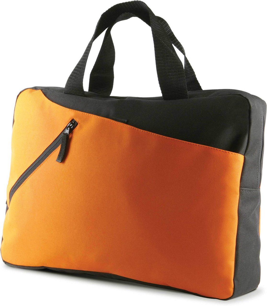 Geanta KI0402 negru portocaliu Genti rucsacuri personalizate conferinta laptop sport compartiment serigrafie broderie termotransfer