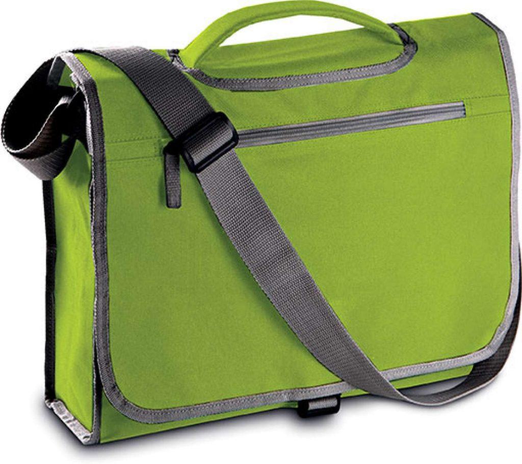 Geanta KI0403 verde lime Genti rucsacuri personalizate conferinta laptop sport compartiment serigrafie broderie termotransfer