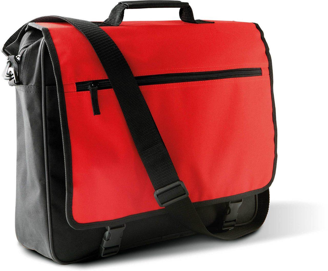 Geanta KI0412 negru rosu lime Genti rucsacuri personalizate conferinta laptop sport compartiment serigrafie broderie termotransfer