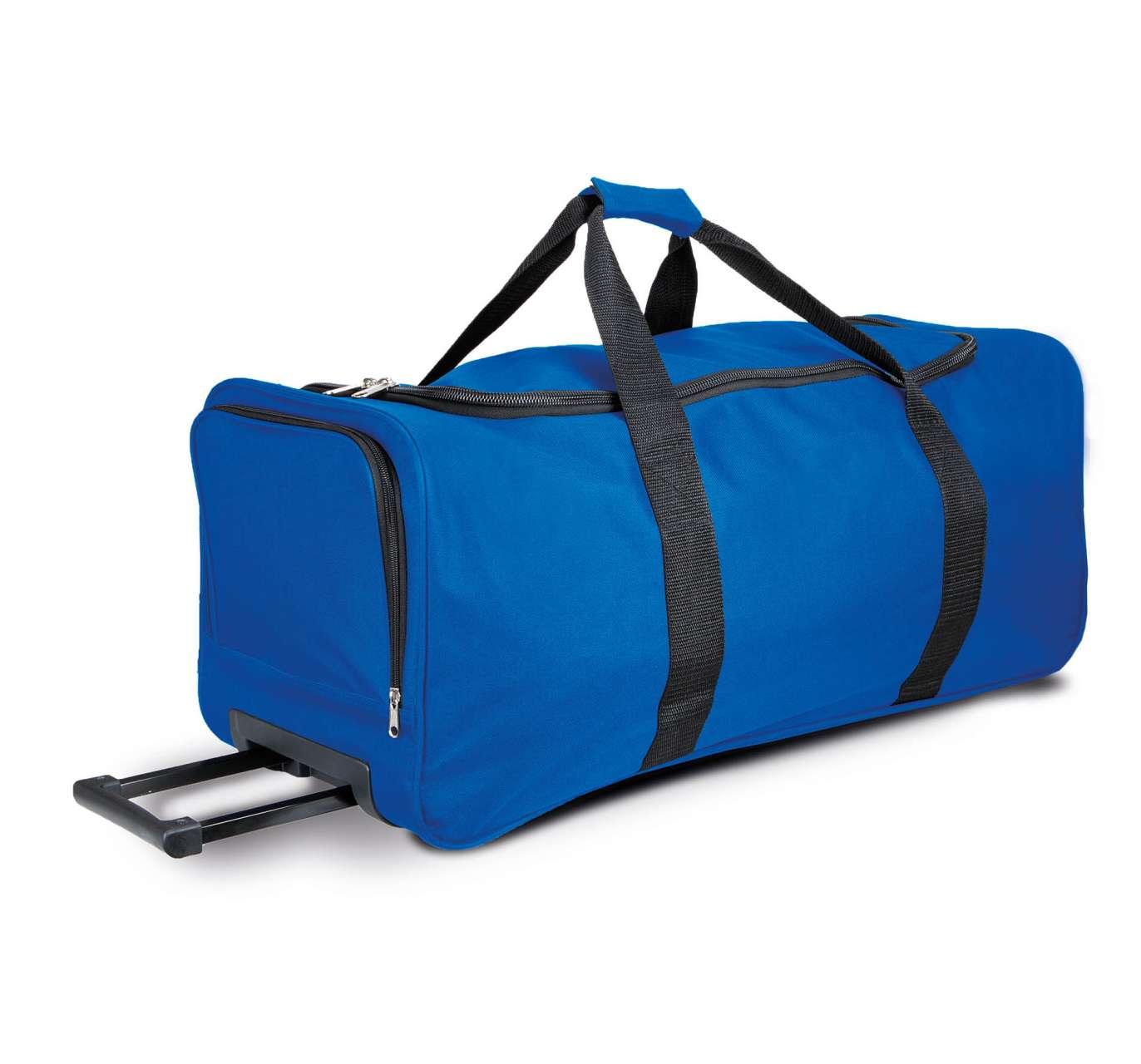 Geanta troller KI0812 albastru royal Genti rucsacuri personalizate conferinta laptop sport compartiment serigrafie broderie termotransfer