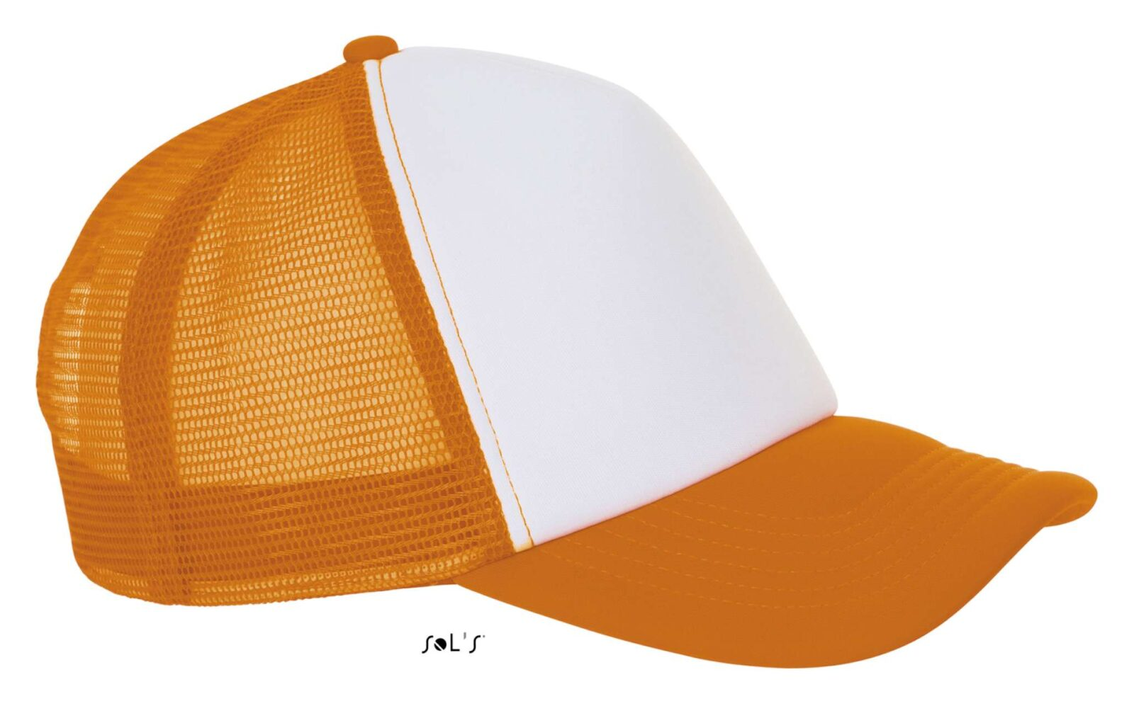 Sapca plasa neon orange portocaliu SO01668 Sepci personalizate trucker panele inchidere cozoroace accesorii caciuli fulare termotransfer serigrafie broderie