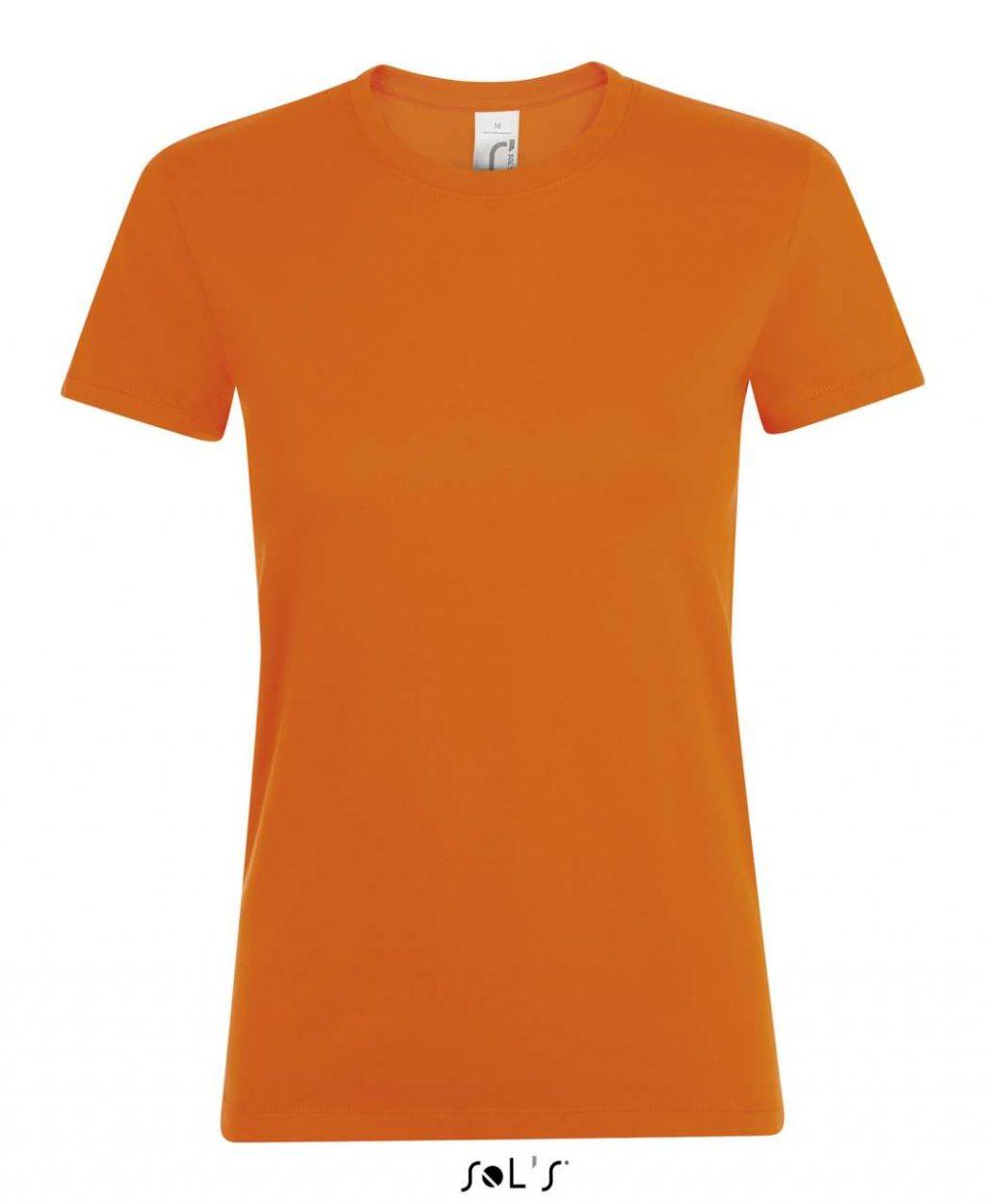 Sols Regent dama SO01825 portocaliu orange Tricouri dama barbatesti maneca scurta maneca lunga broderie serigrafie termotransfer personalizate bumbac DTG croiala fit semi cusaturi laterale tubular | Toroadv.ro