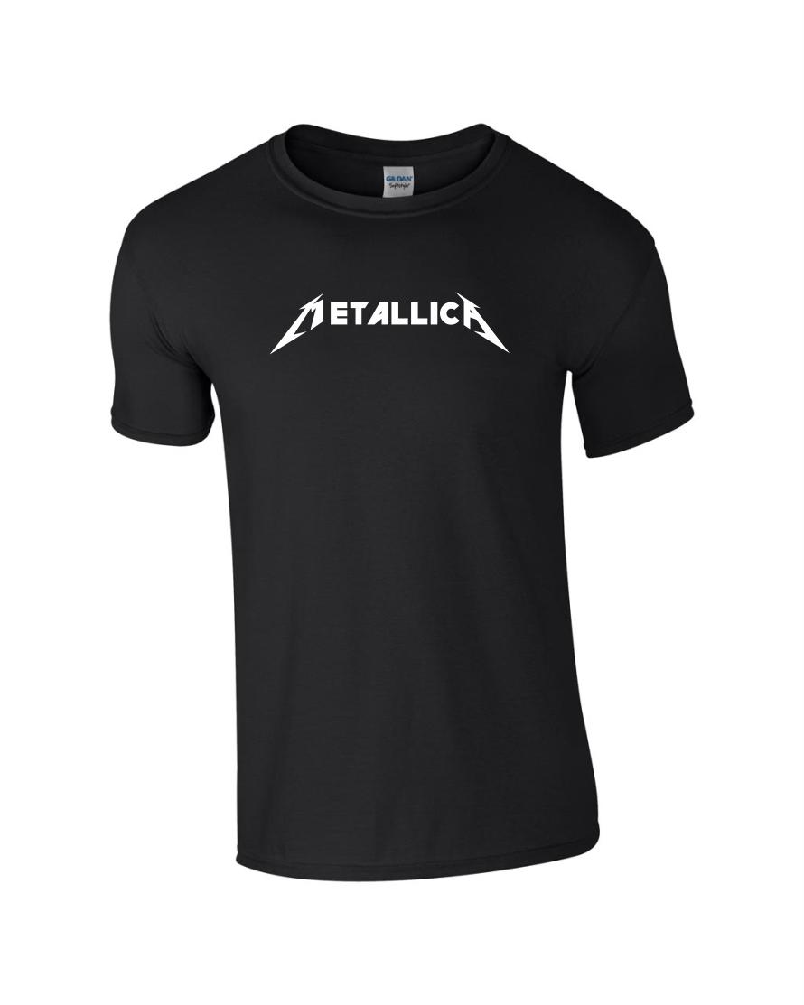 Tricou negru bumbac unisex imprimat Metallica personalizate premium