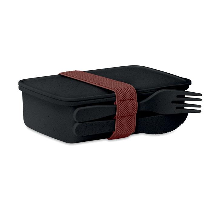 Caserola negru mo9425 bambus polipropilena tacamuri eco-friendly personalizare tampografie