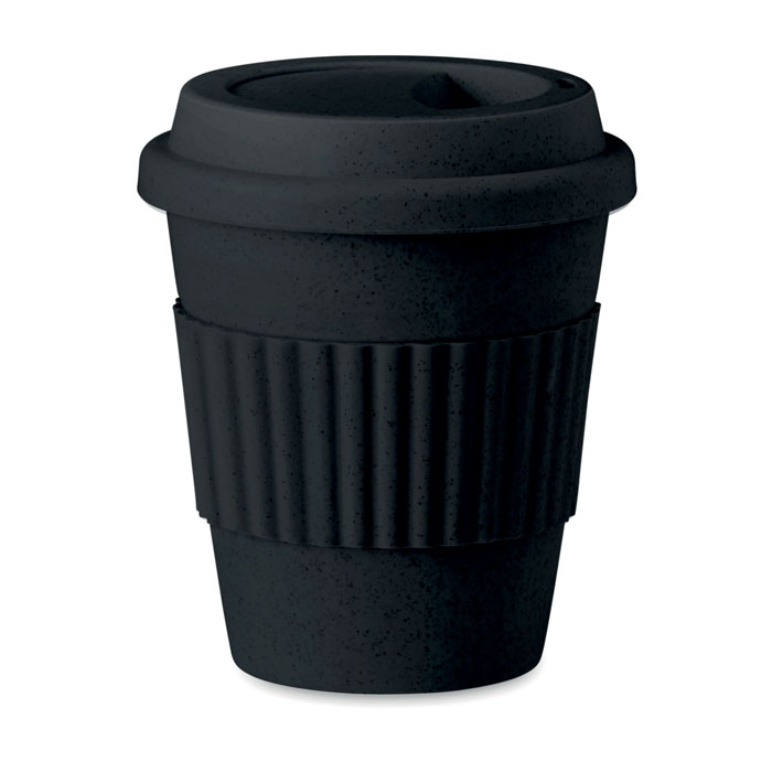 Pahar 350 ml MO9427 Astoria negru bambus polipropilena eco-friendly tampografie