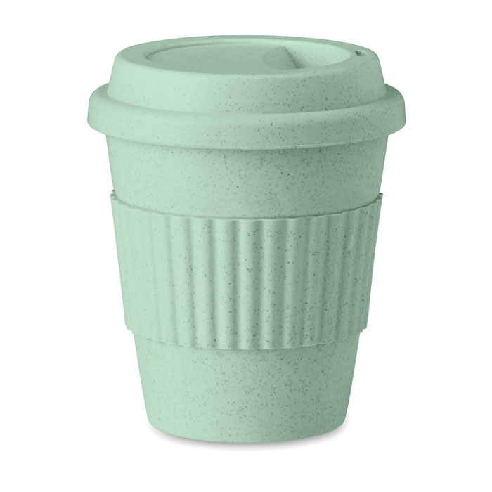 Pahar 350 ml MO9427 Astoria verde bambus polipropilena eco-friendly tampografie