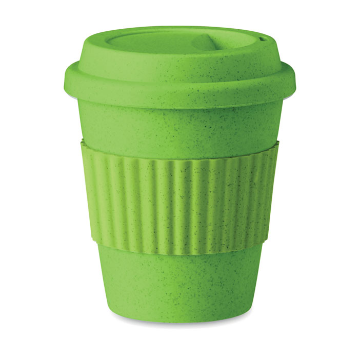 Pahar 350 ml MO9427 Astoria verde lime bambus polipropilena eco-friendly tampografie