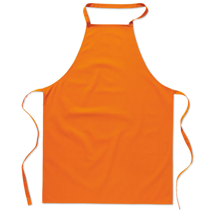 mo7251 Sort bucatarie portocaliu orange bumbac poliester promotionale buzunare termotransfer serigrafie broderie