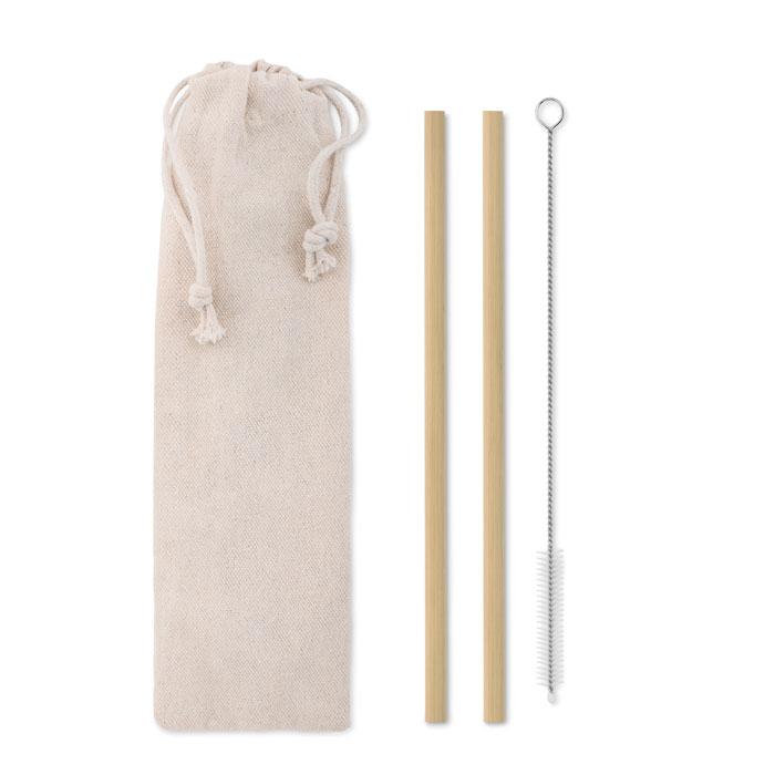 Set paie din bambus in saculet din bumbac si cu accesoriu pentru curatare