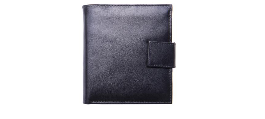 portofel piele naturala neagra