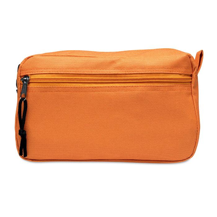 Geanta cosmetice 2 compartimente buzunar portocaliu orange