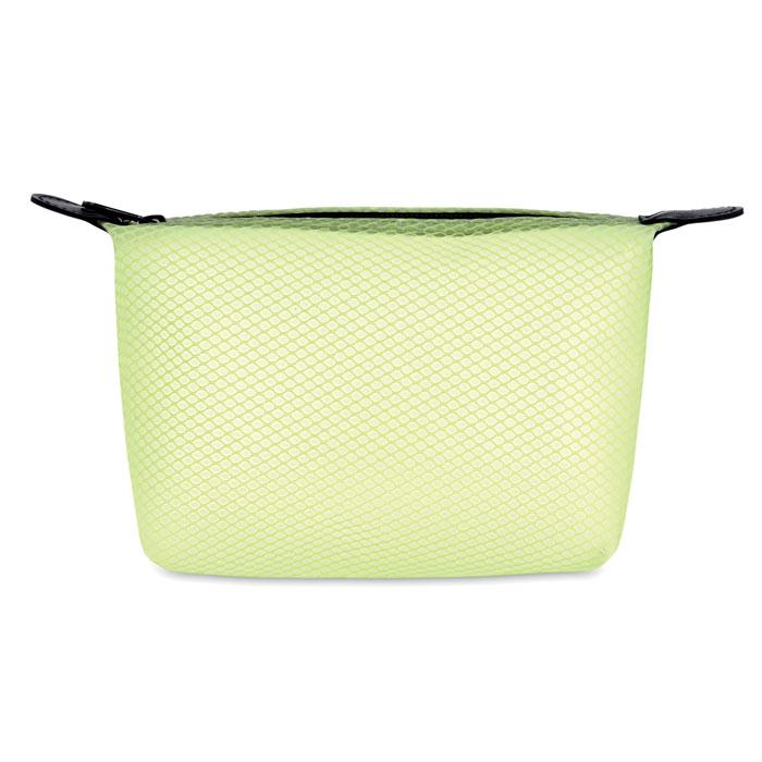 Geanta cosmetice verde lime imprimata