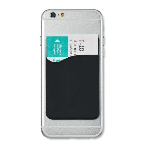 Port card RFID negru mo8736 silicon protectie banda adeziv 3M personalizare tampografie