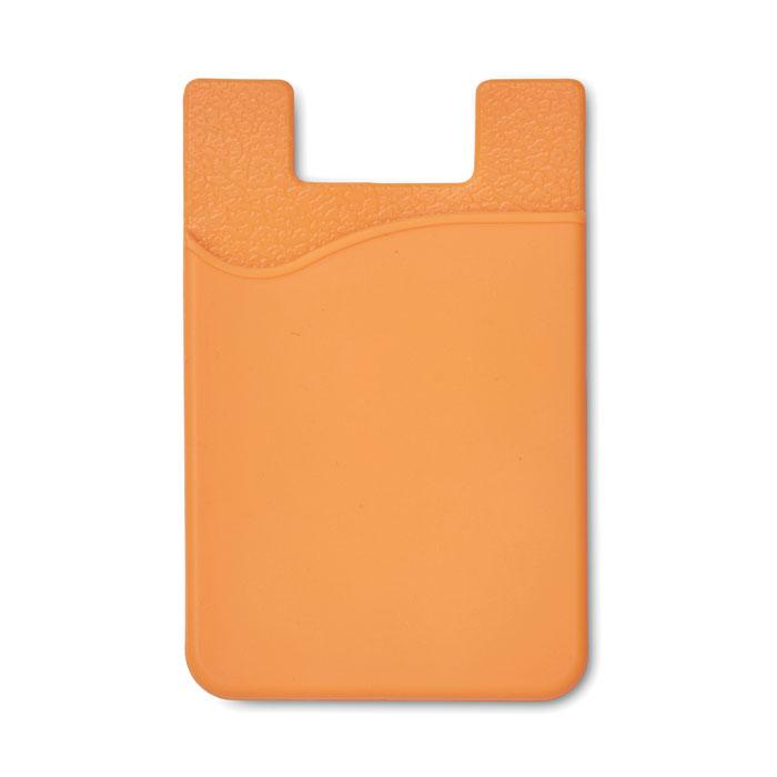 Port card RFID portocaliu mo8736 silicon protectie banda adeziv 3M personalizare tampografie