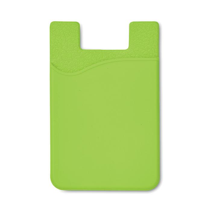 Port card RFID verde lime mo8736 silicon protectie banda adeziv 3M personalizare tampografie