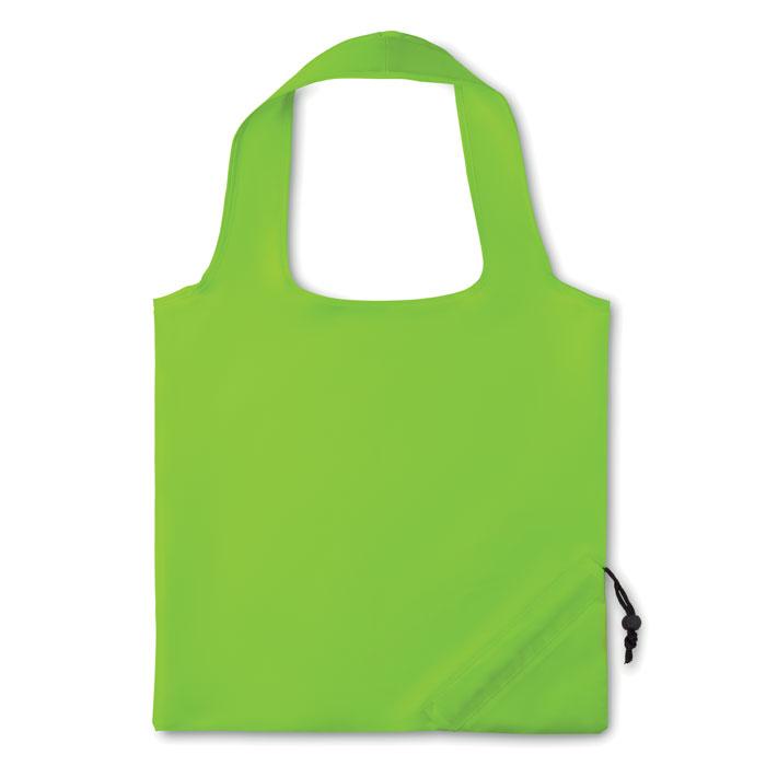 Sacosa verde lime MO9003 poliester pliabila inchidere autoblocant personalizata serigrafie termotransfer
