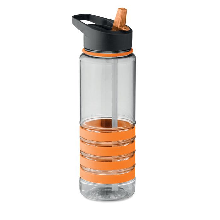 Sticla tritan portocalie mo9226 BPA free 750 ml personalizare gravura laser tampografie, sticker